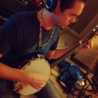 Andrew Burns laying down some country-rock banjo