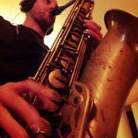 Brian Asselin playing sax on a Jeremy James 'deep house' track.