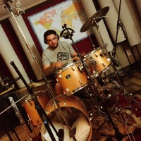 Mazen Ayoub tracking a hip-hop groove on the full kit.